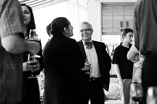 Photo Dean Frank at the alumni social in St. Catherine's at CSSE