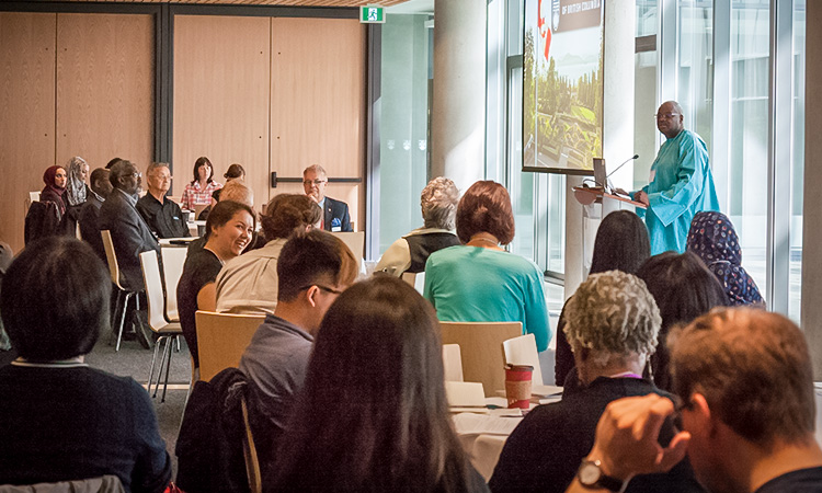 Professor Handel Wright, EDST, and Director of the Centre for Culture, Identity and Education, welcomes attendees to the International Conference on Cultural Studies and Education.