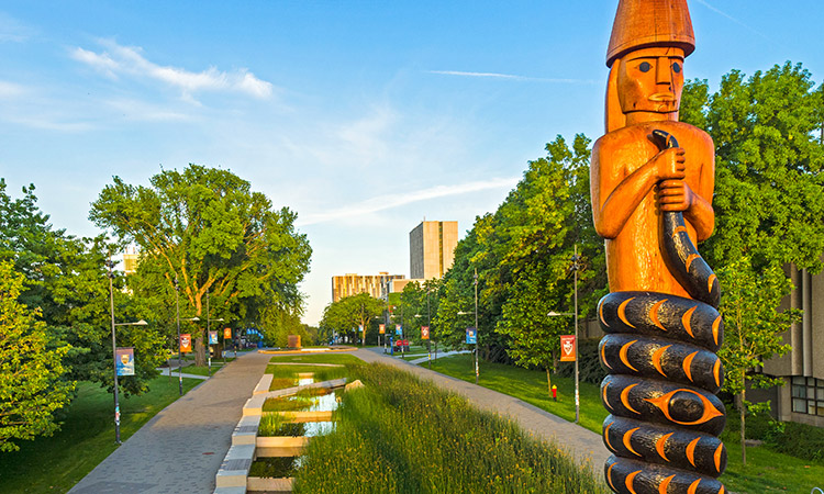 UBC Musqueam Pole, carved by Brent Sparrow Jr.