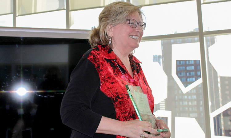 Professor Rita Irwin, EDCP, recipient of the 2017 Herbert T. Coutts Distinguished Service Award for outstanding service to the Canadian Society for the Study of Education (CSSE).